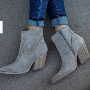 NIB Grey western booties